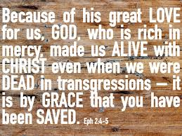 grace you are saved